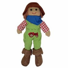 Small Boy Farmer Rag Doll